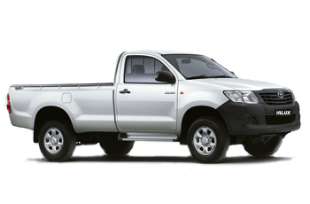 Toyota Hilux 4 x 2 Single Cab Bakkie Hire