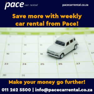 Affordable weekly car rental in Johannesburg from Pace Car Rental